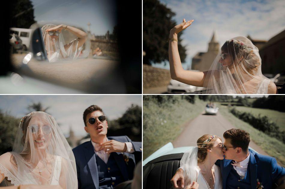 convoit des mariés décapotable