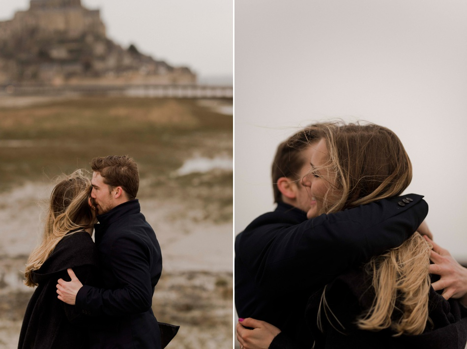 engagement shoot at le mont st michel