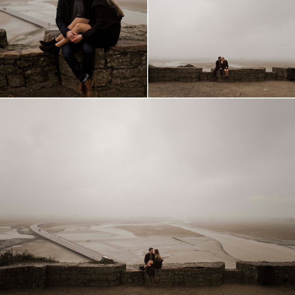 couple photography mont saint michel