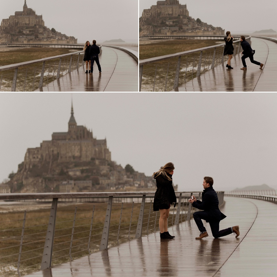 proposal in Le Mont Saint Michel