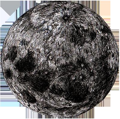pleine lune dessin au trait