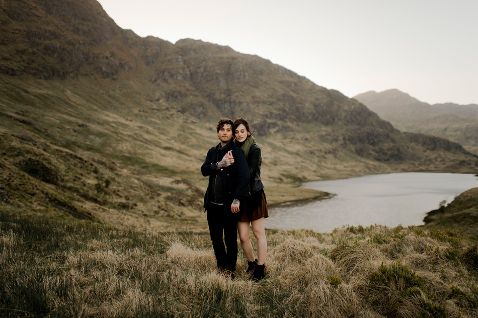 engagement shoot in Highlands