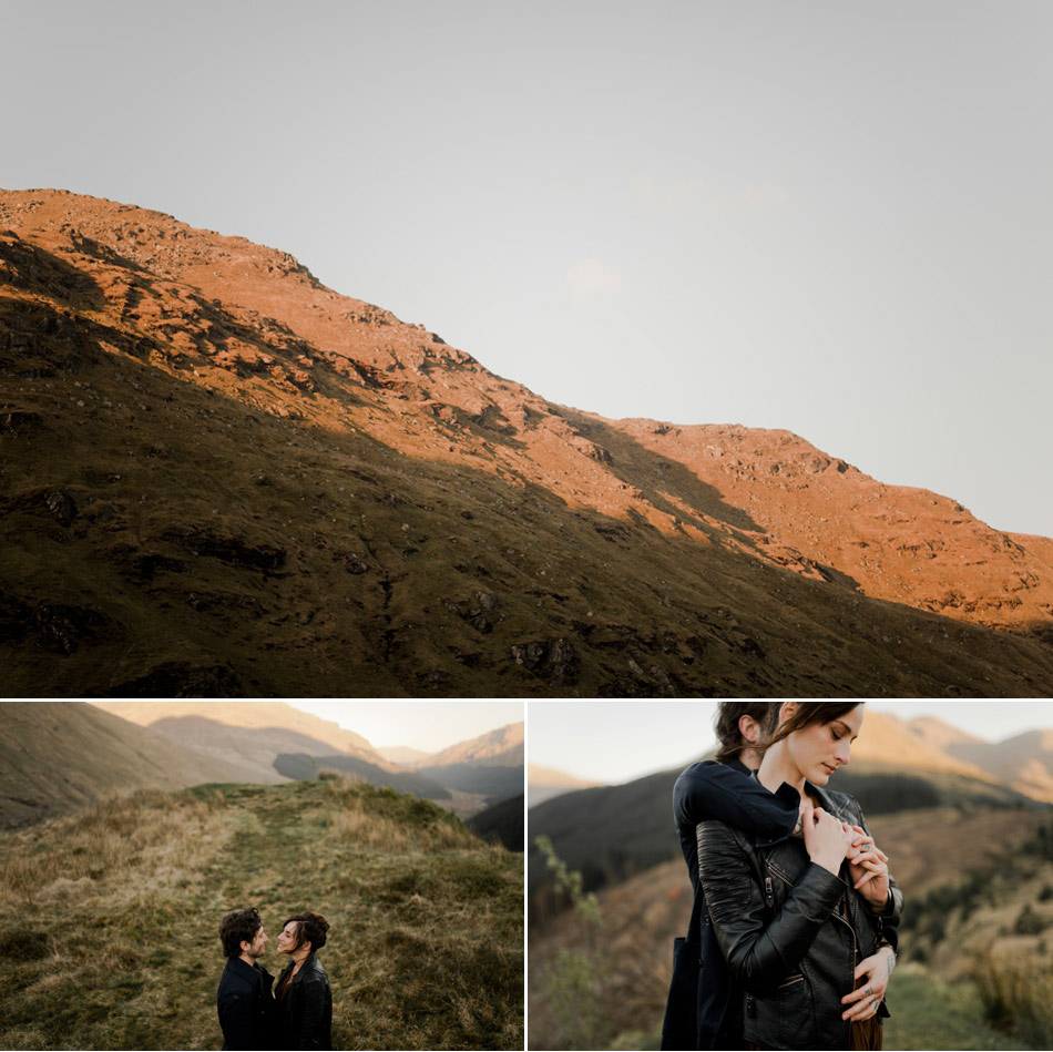 destination elopement photo in Scotland