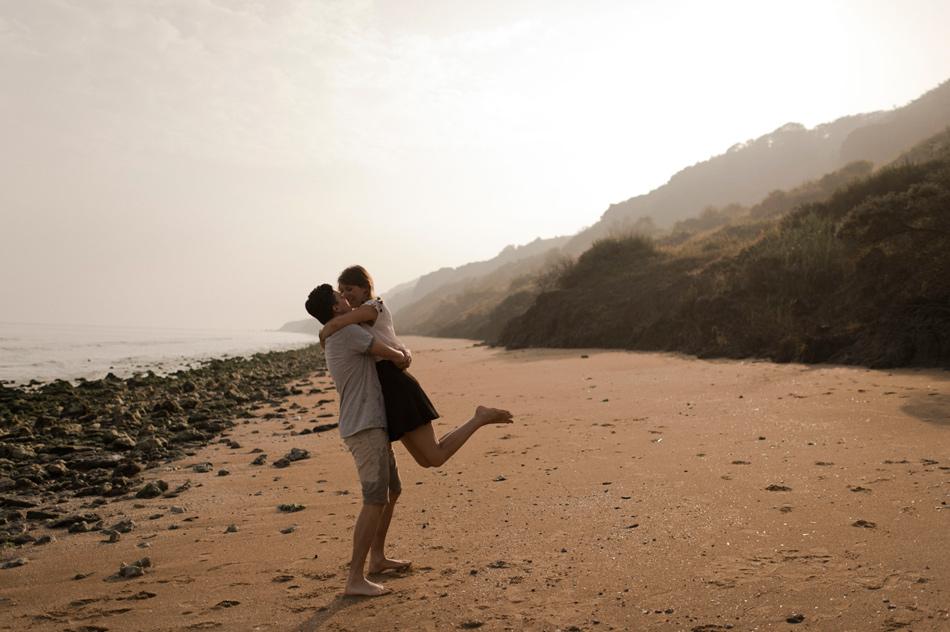 photographie de couple au soleil