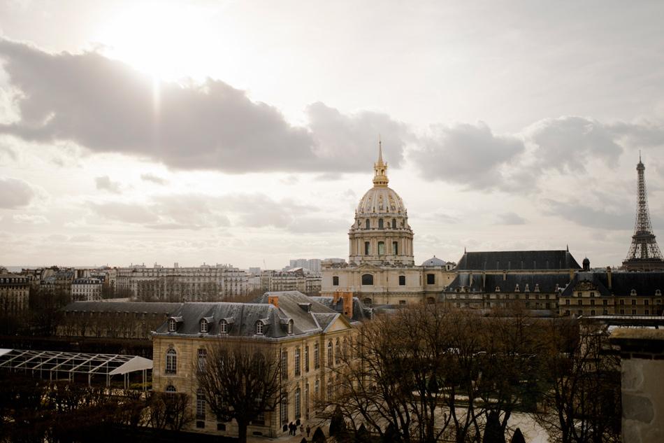 Photo des toits de Paris tour Eiffel