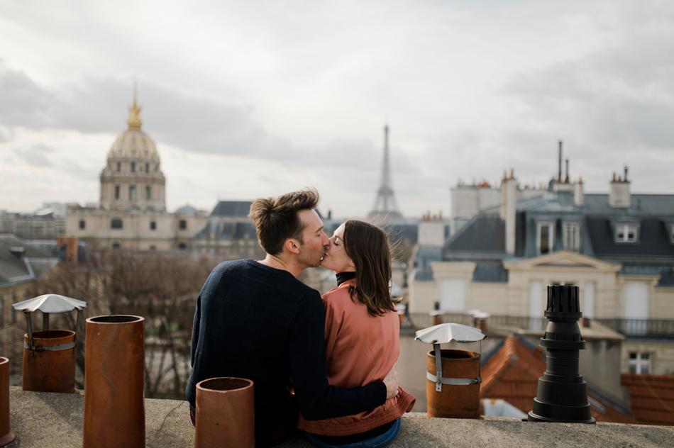 baiser sur les toits