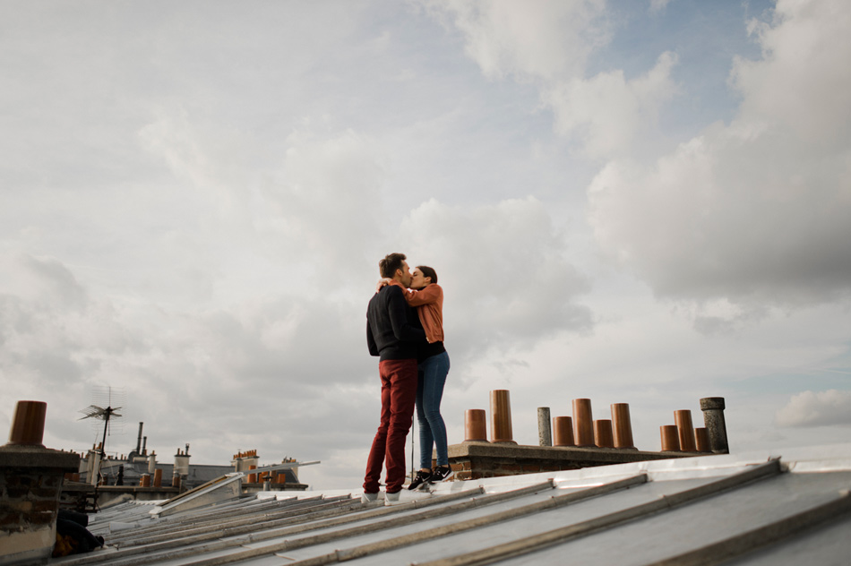 engagement shoot rooftops