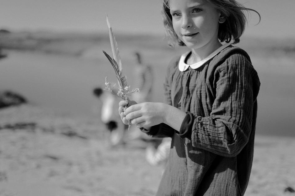 portrait enfant plage normandie