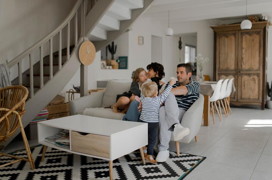 photo de famille maison