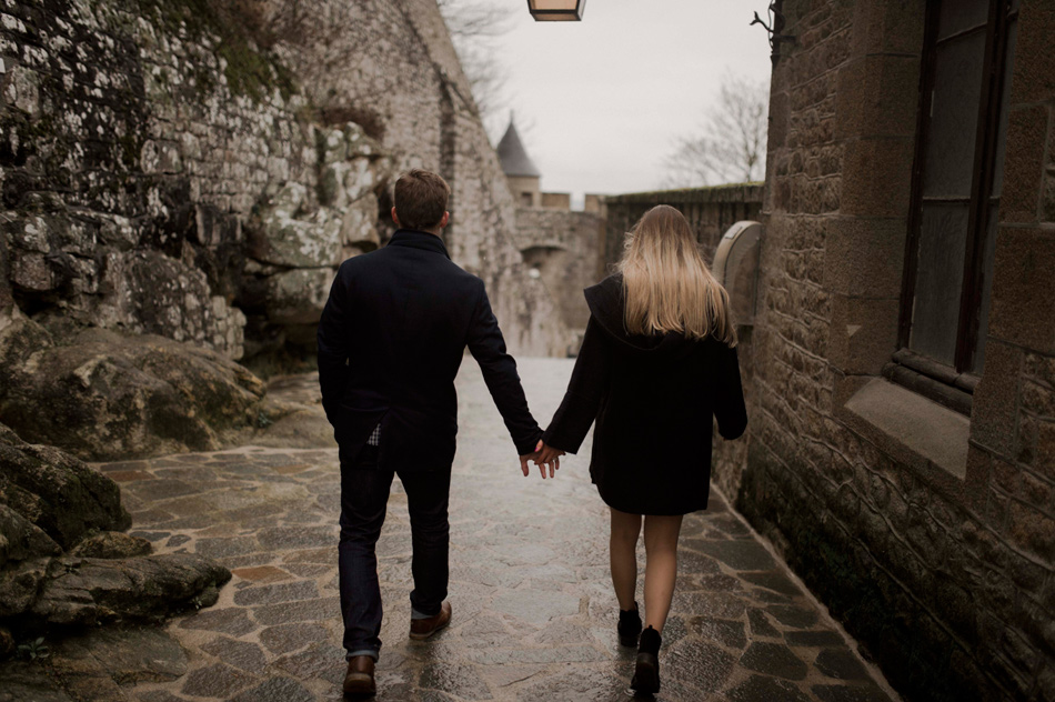 proposal photography mont saint michel