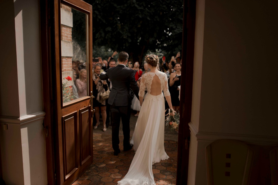 sortie mariage de dos mairie