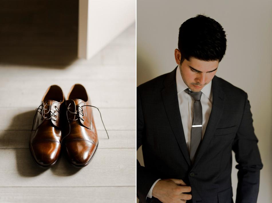 elegant brown wedding shoes