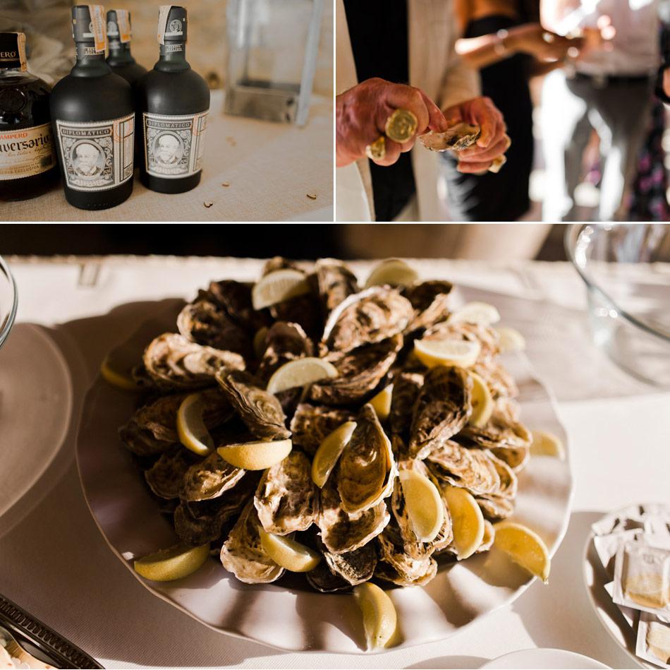 huitres vin d'honneur normandie