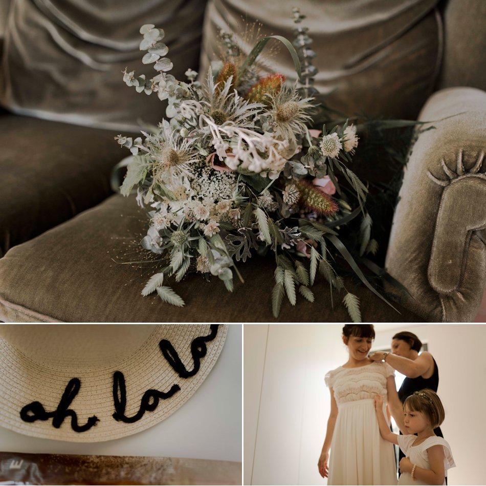 bouquet de mariée fleurs sauvages