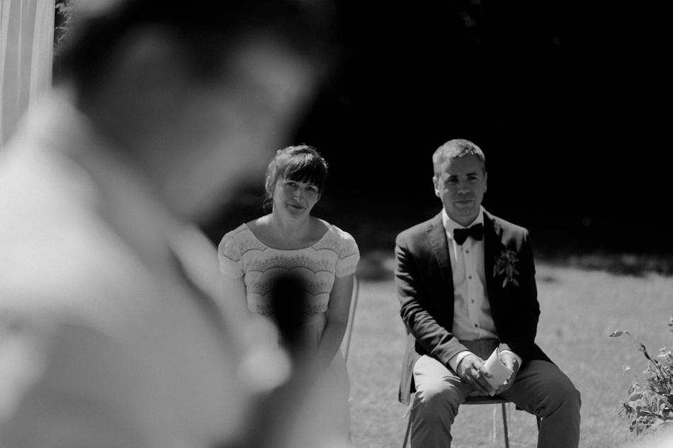 mariage en noir et blanc normandie