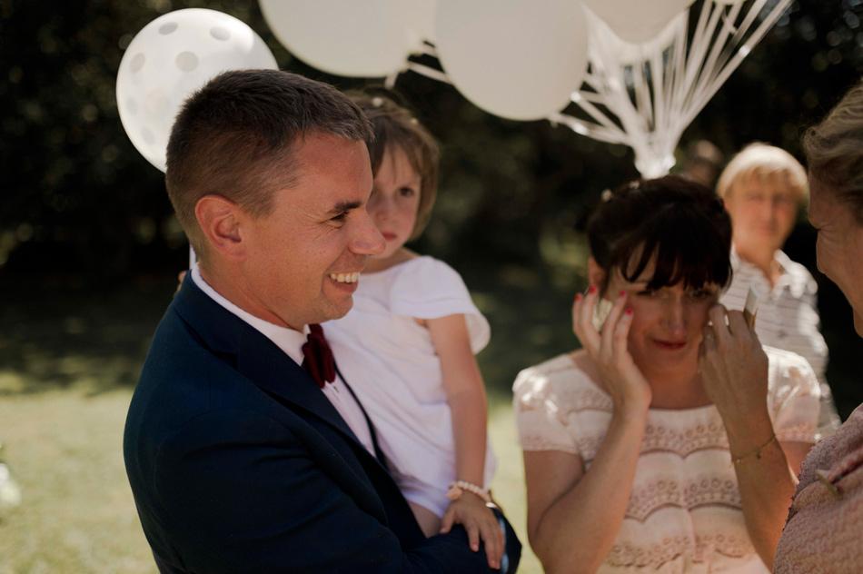 les larmes de joie de la mariée