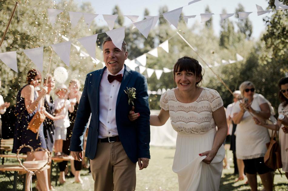 fanions et confettis mariage