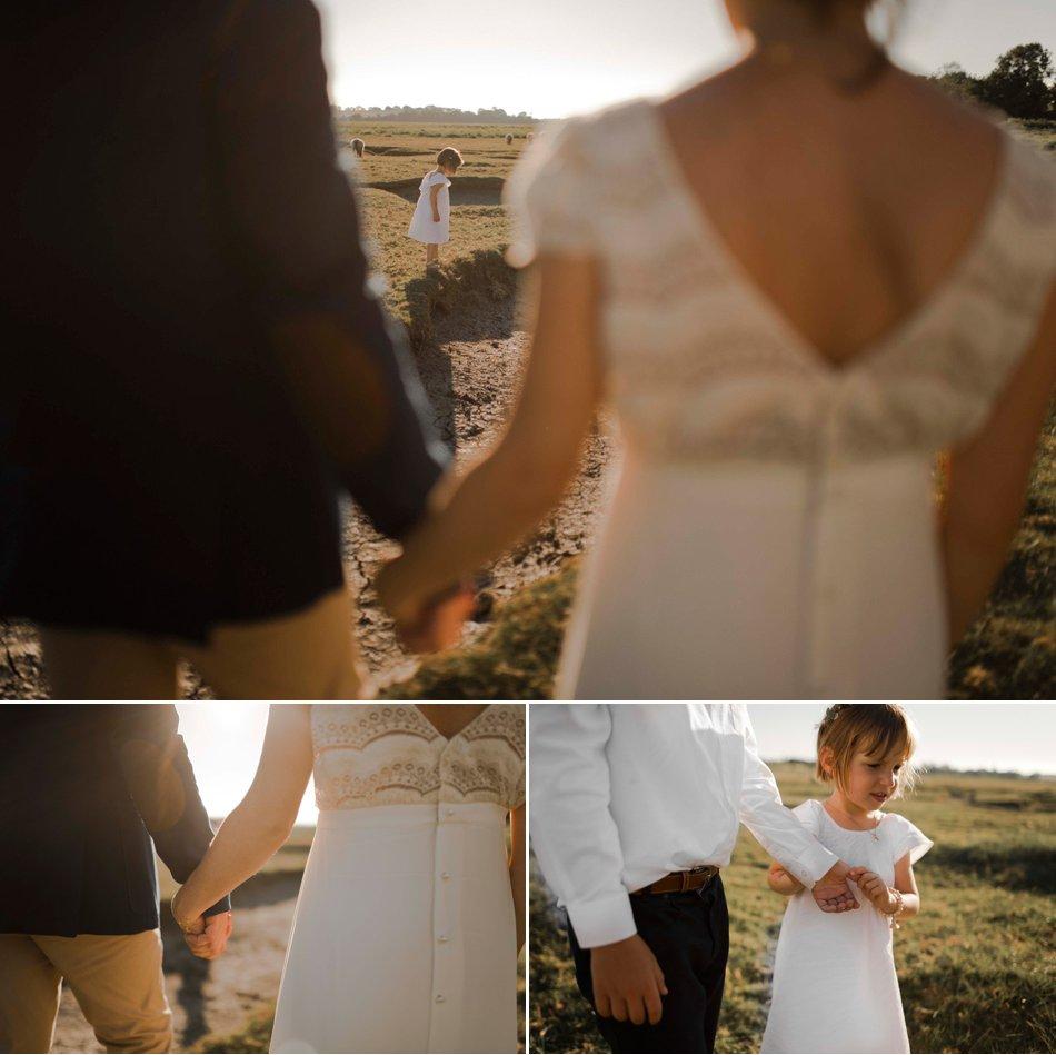 enfants mariage manche