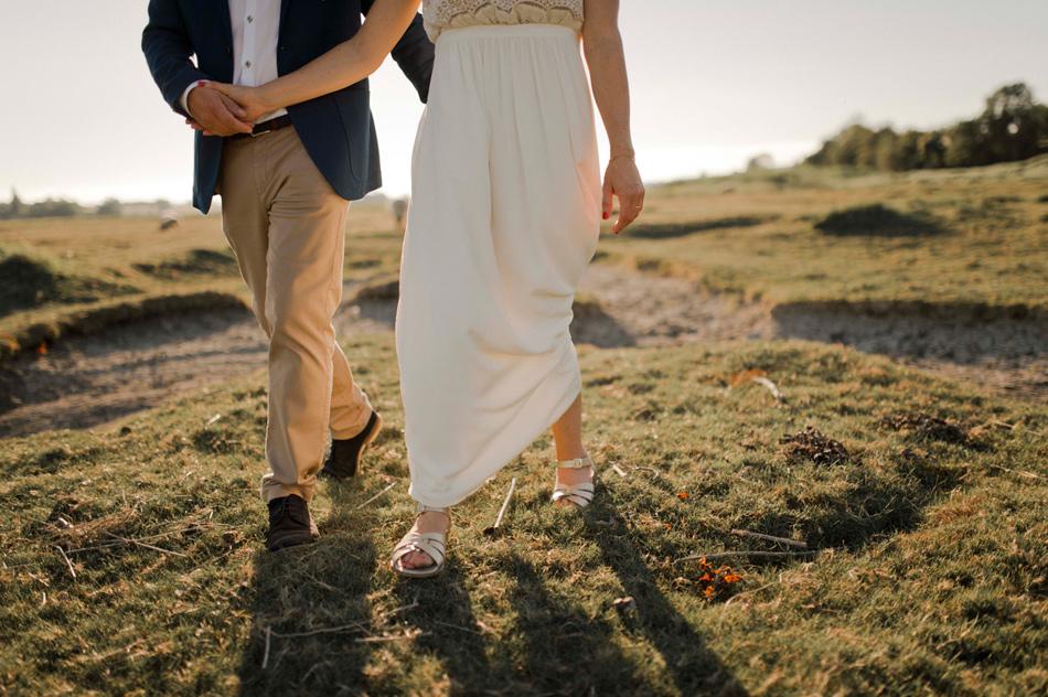 mariée en sandales
