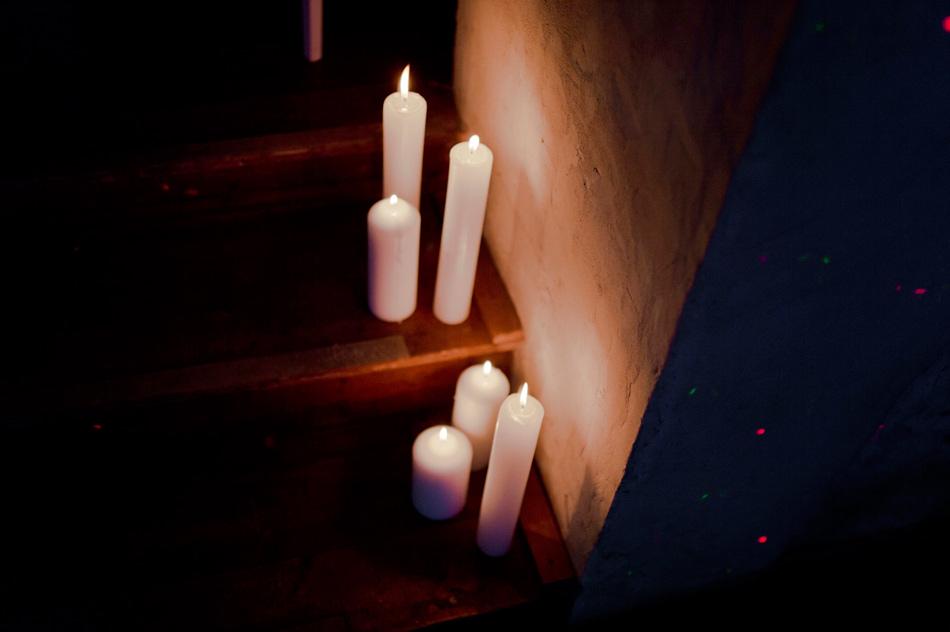 bougies déco de mariage
