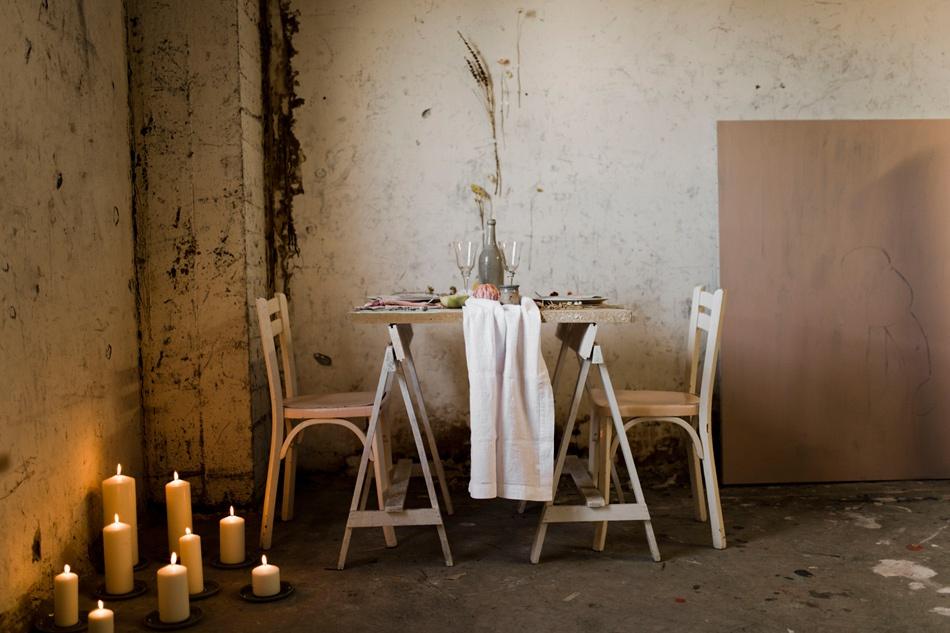 table de mariage soirée hivernale