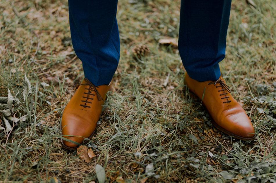 chaussures du marié camel