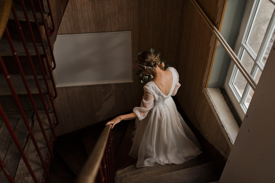 robe rose pâle mariage