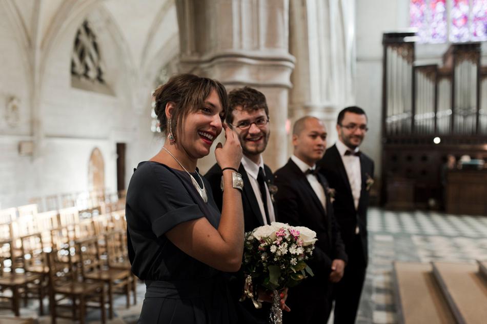 larmes de la temoin mariage