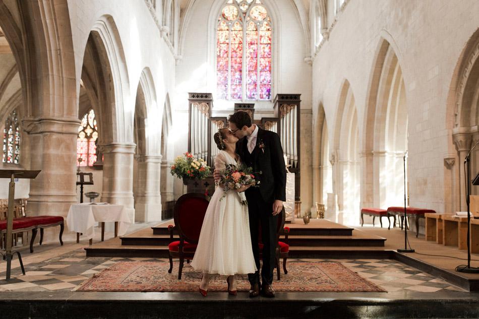 photos de mariés dans le choeur