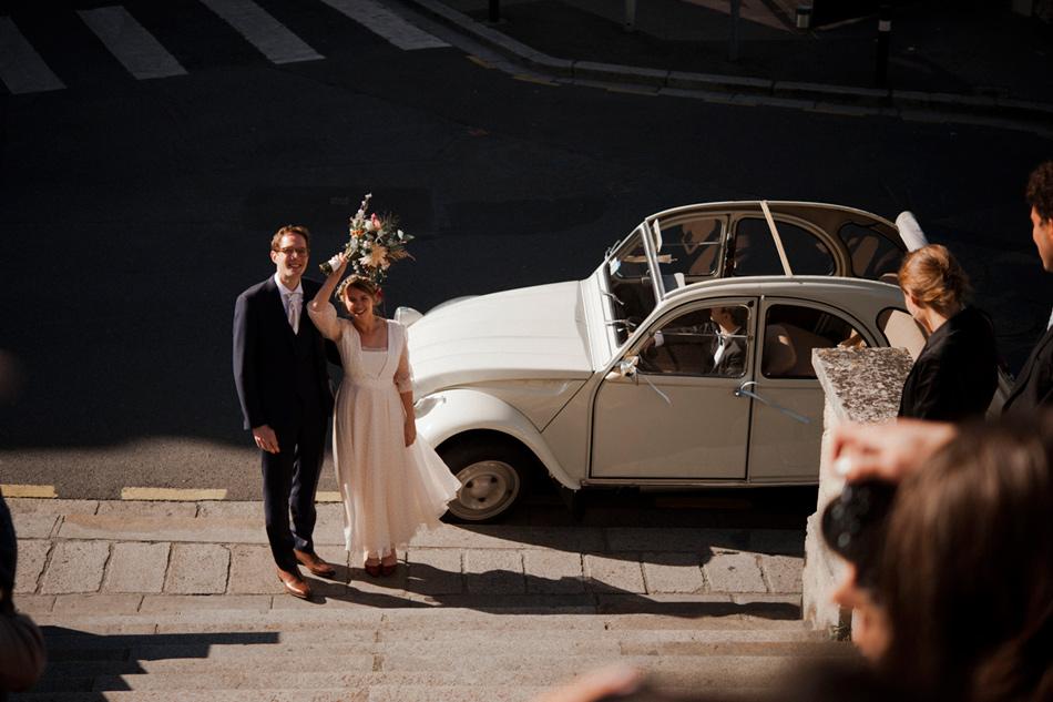 escapades de mariés après la cérémonie