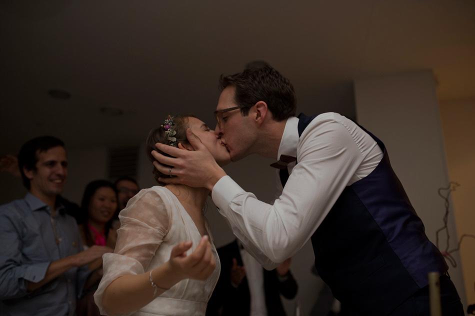 baiser des mariés soirée