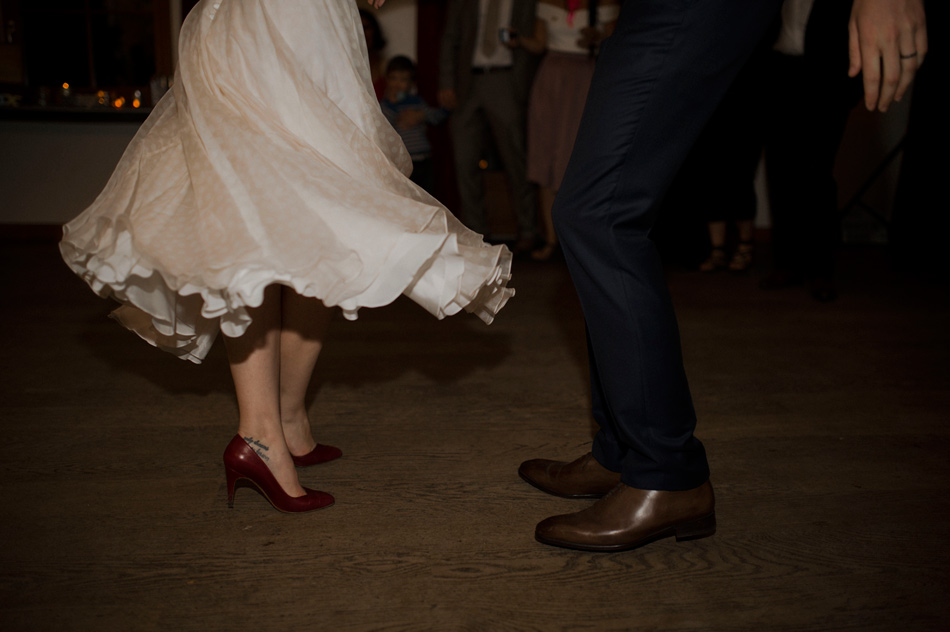 chaussures des mariés danses