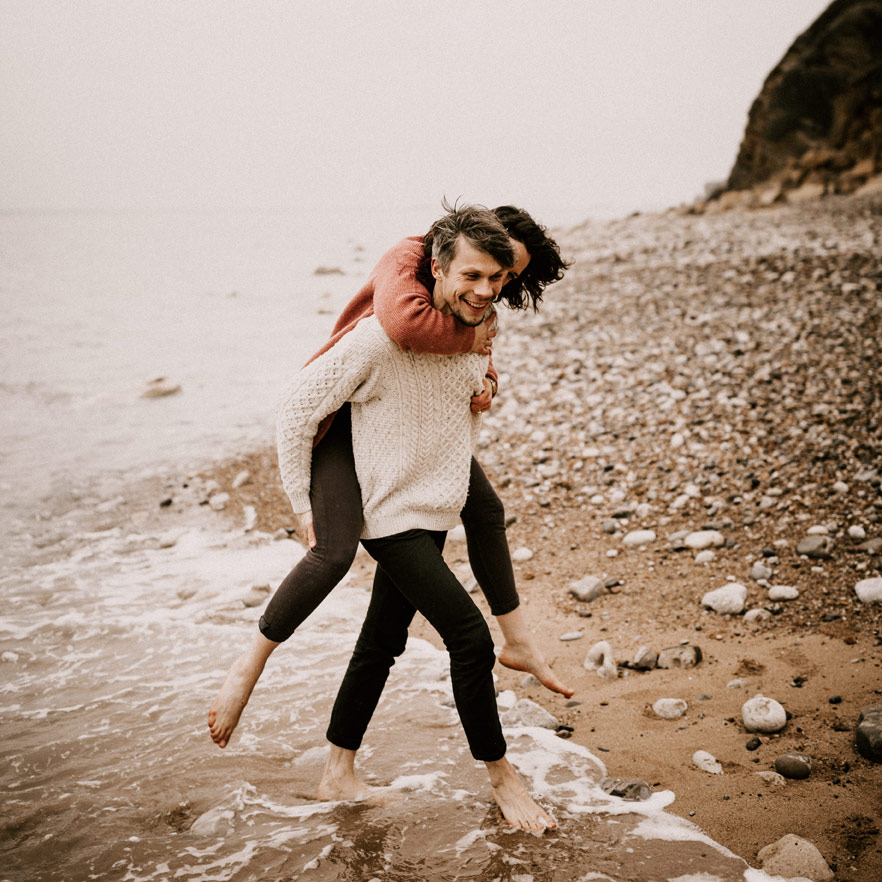 photo de couple solveig et ronan plage
