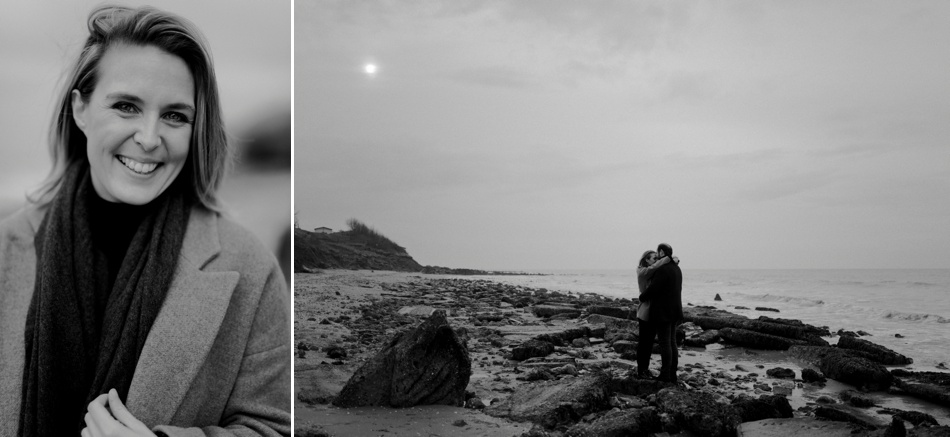photo engagement falaises normandes