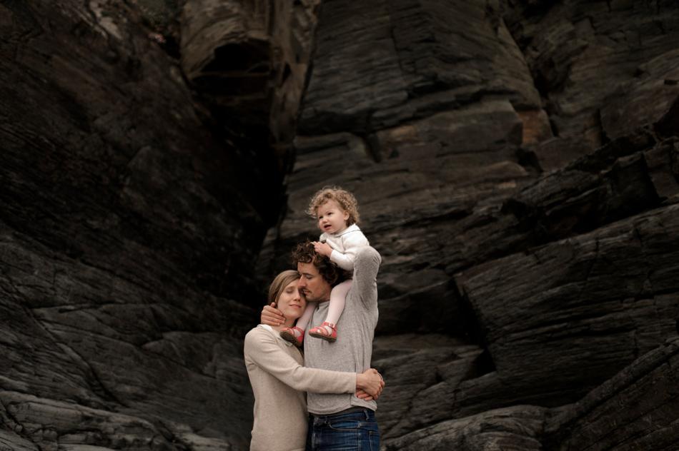 famille unie à la mer