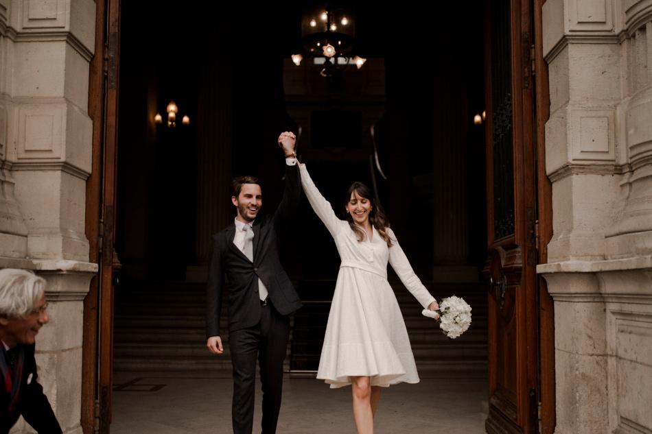sortie mariage civil à Paris