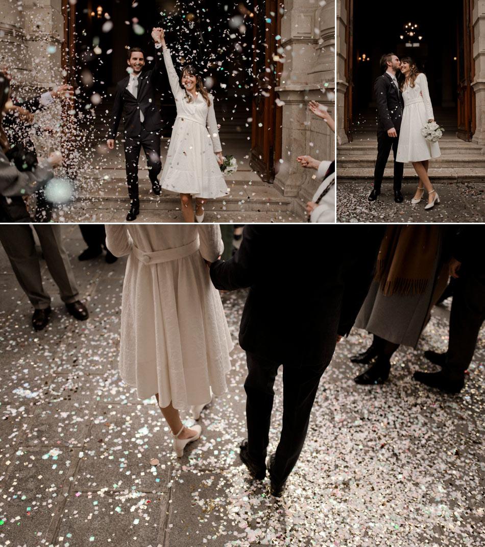 confettis dorés Paris