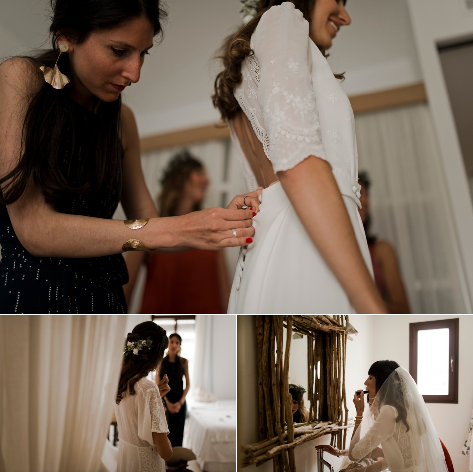 préparatifs de la mariée Elise Hameau
