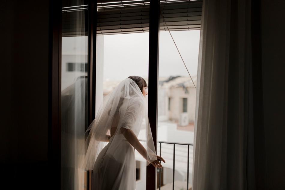 juste avant l'eglise mariée