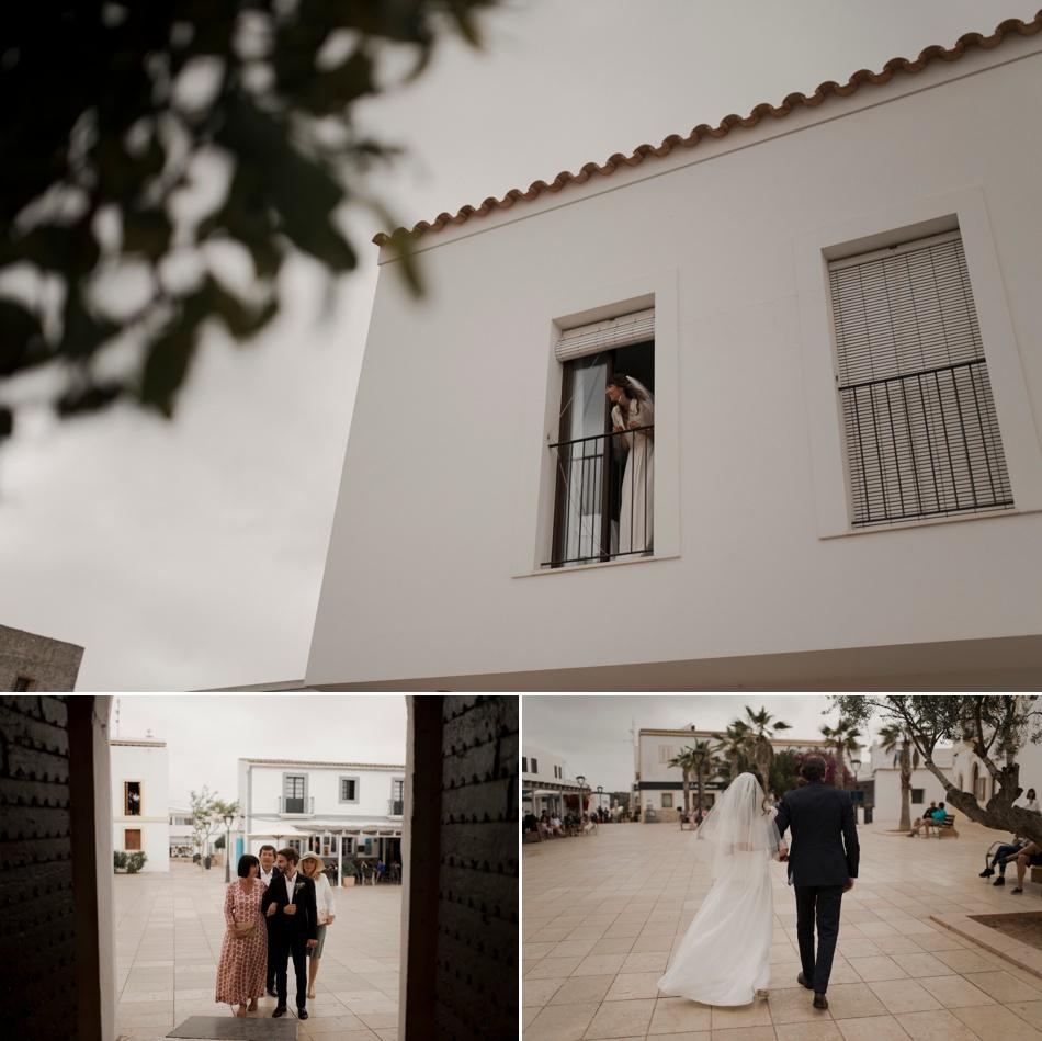 entrée de la mariée dans la chapelle