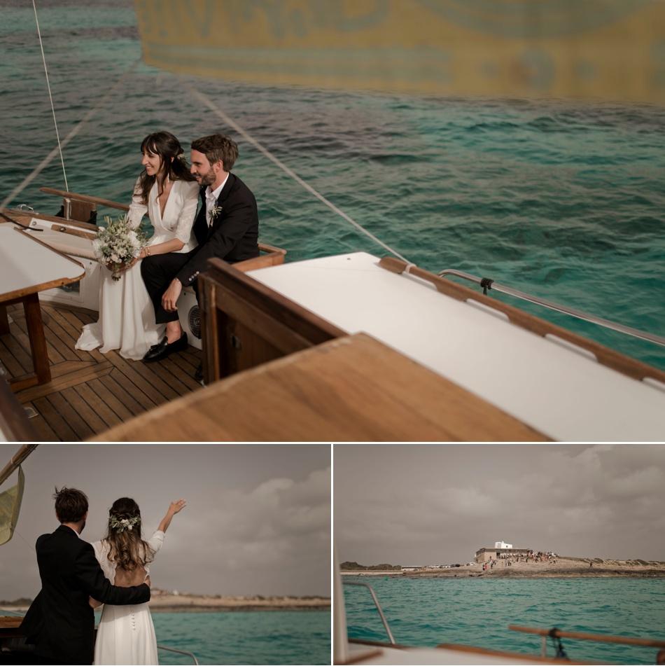 arrivée en bateau sur une Ile mariage