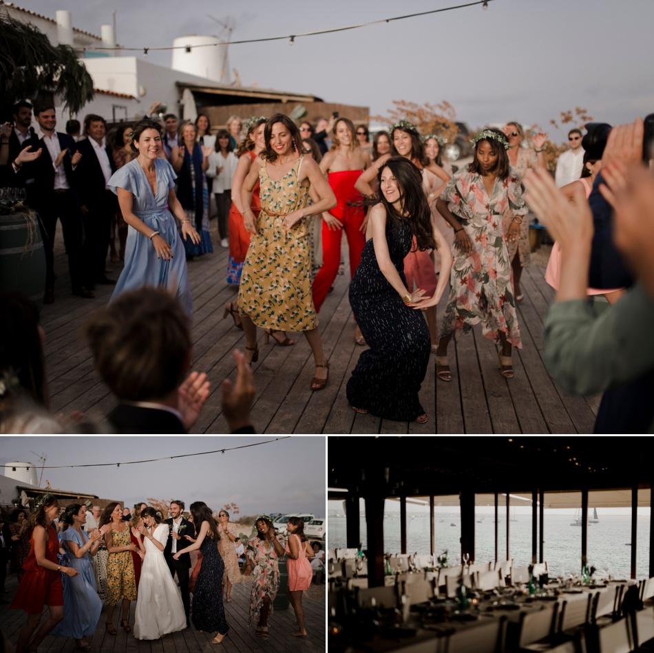 danses des mariés en plein air