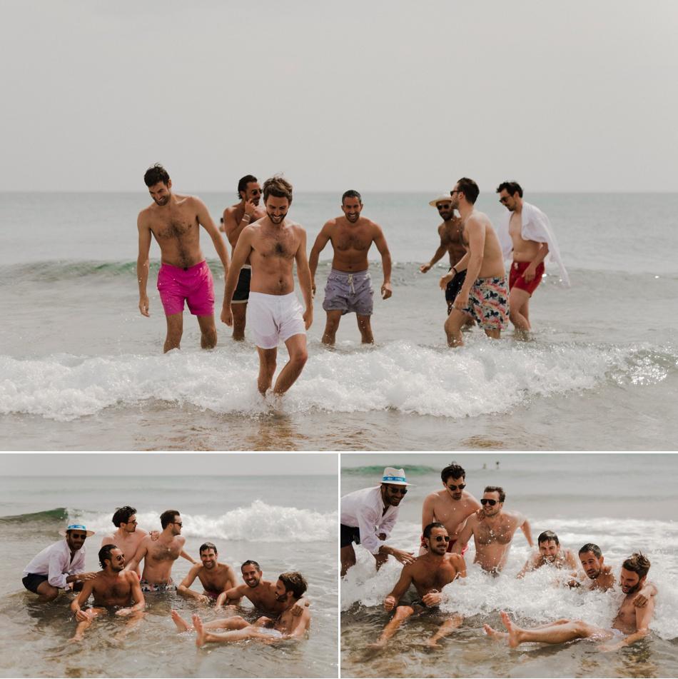 photos de groupes dans l'eau au brunch