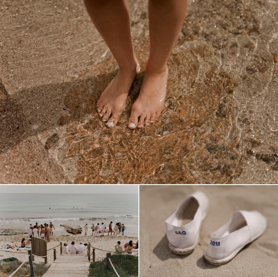 mariage des pieds dans l'eau