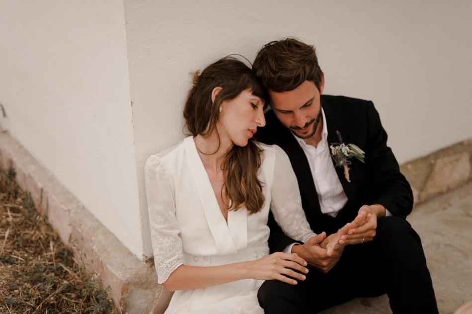 mariage en robe Elise Hameau