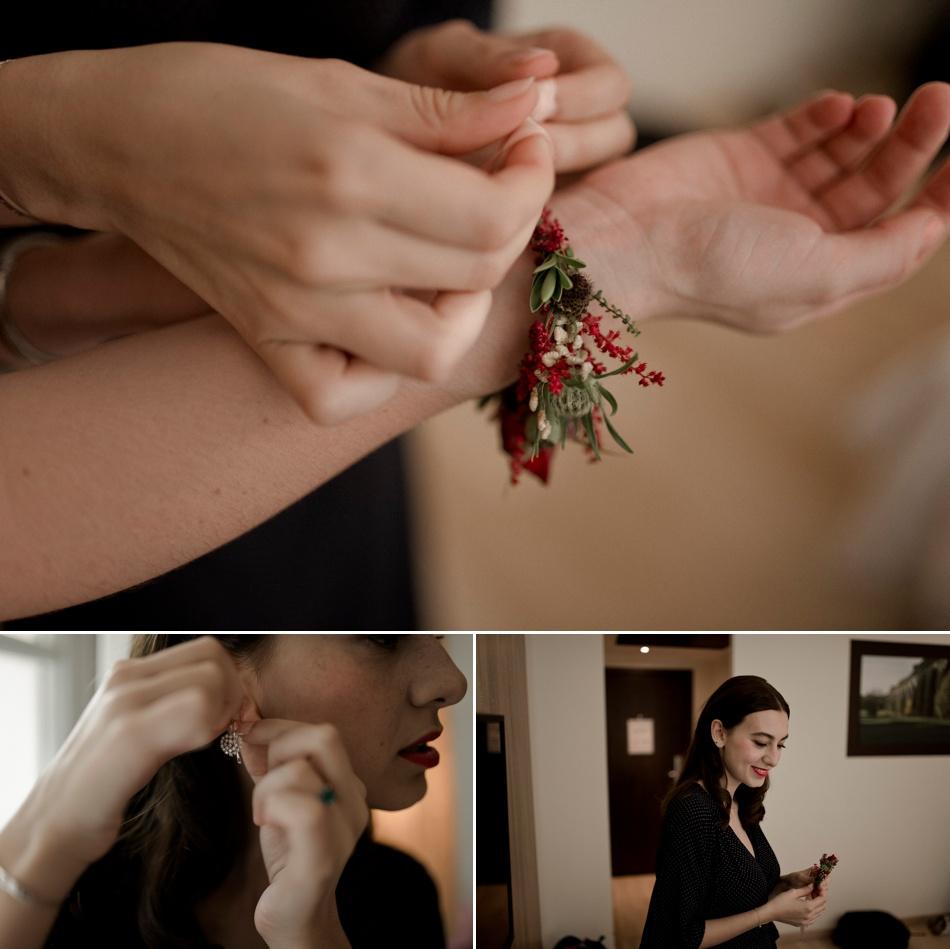 details bracelets en fleurs mariage temoins