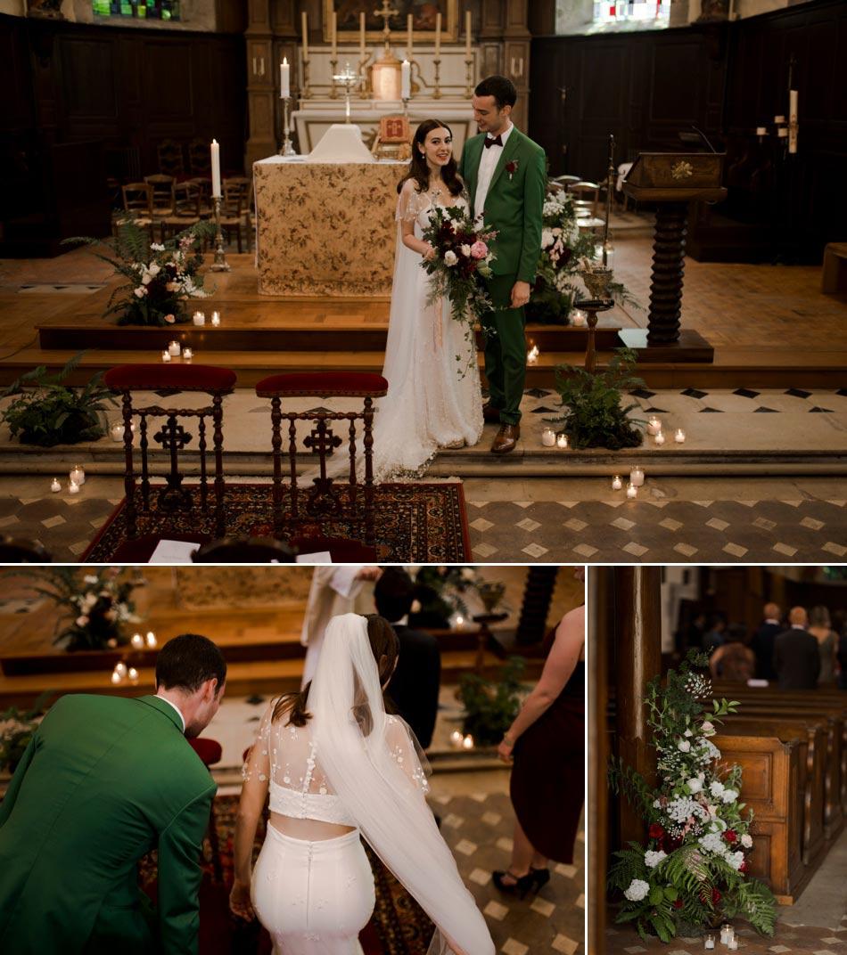 mariage en vert et marsala Normandie