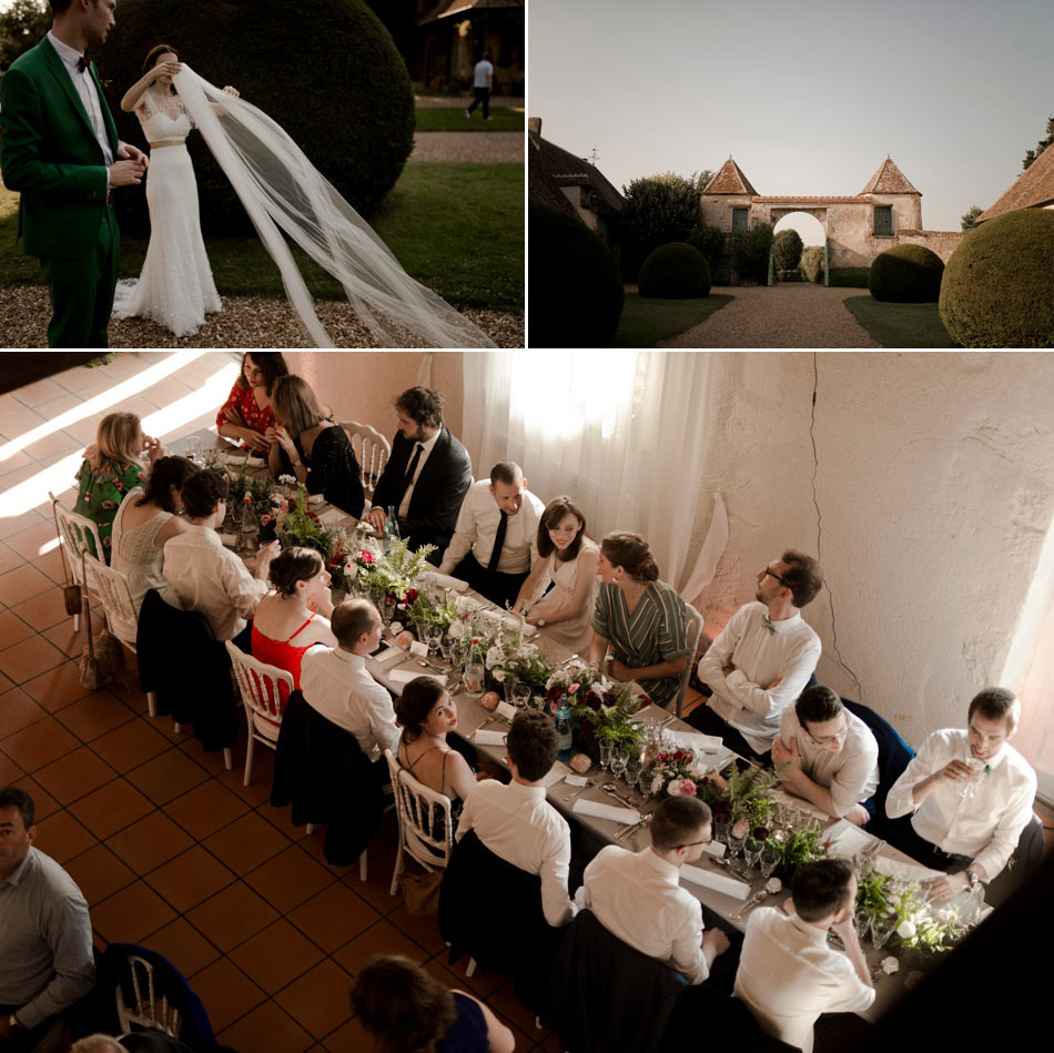 Banquet de mariage inspiration greenery