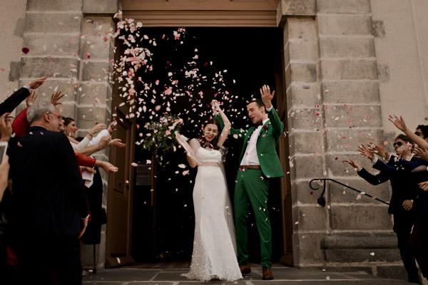 photographe de mariage en vert et marsala centre