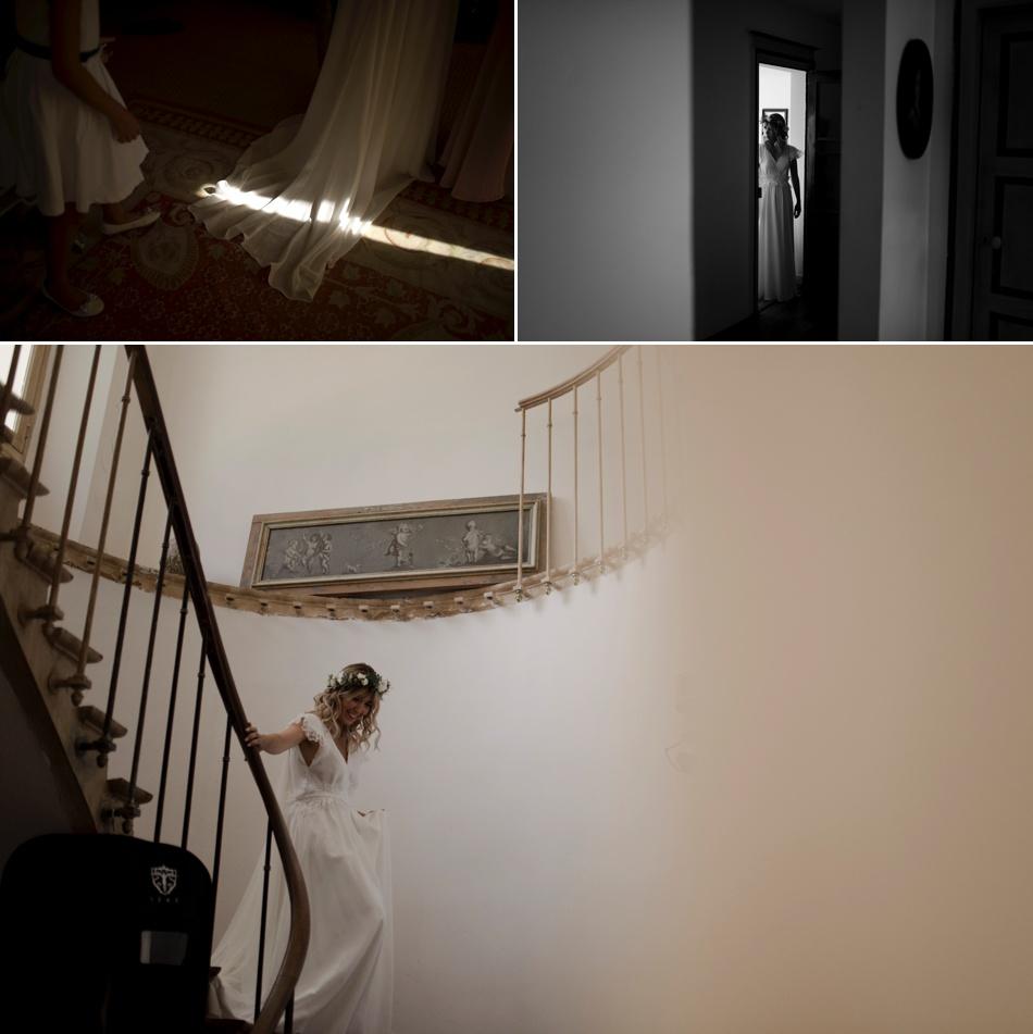 chateau de sereville descente des escaliers